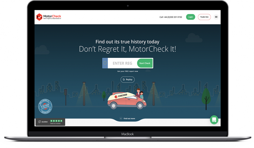 New MotorCheck Car History Check Website for Consumers